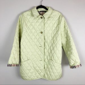Burberry Green Quilted Jacket Nova Check